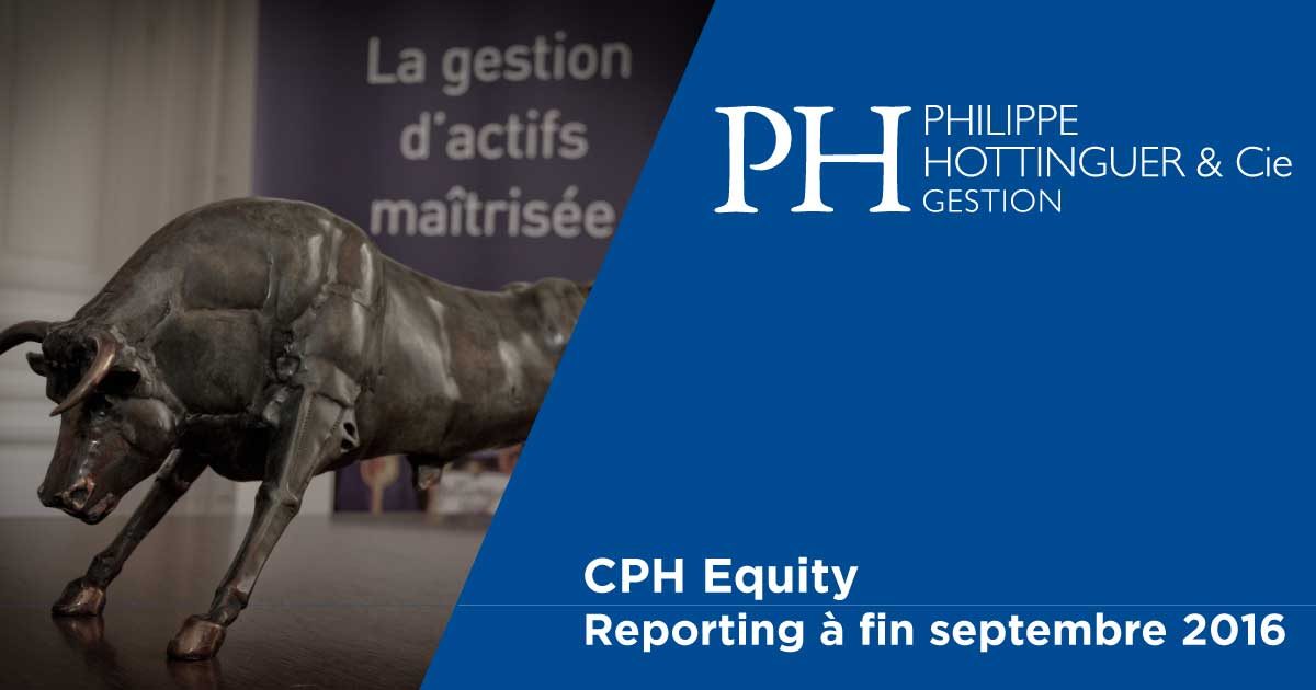CPH Equity : Reporting à Fin Septembre