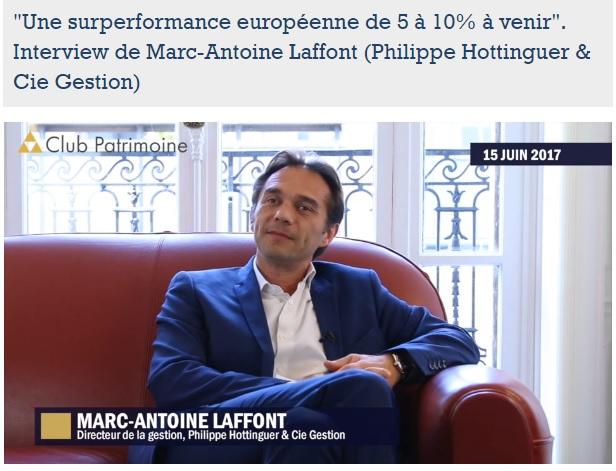 Vidéo : Interview De Marc-Antoine Laffont Par Club Patrimoine