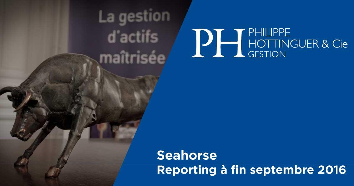 SEAHORSE : Reporting à Fin Septembre