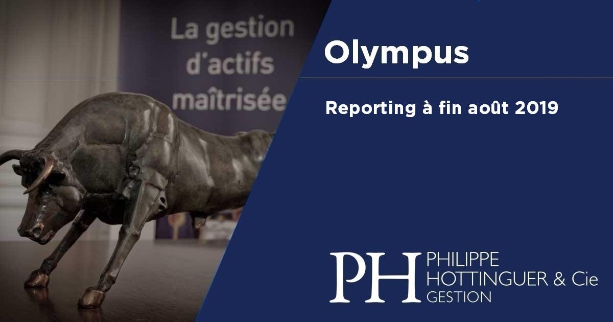 OLYMPUS : Reporting à Fin Août 2019