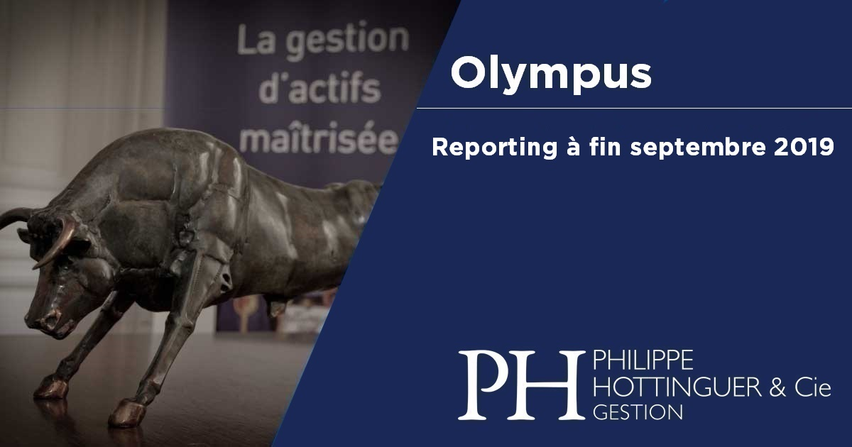 OLYMPUS : Reporting à Fin Septembre 2019